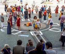 wERDschätzender Flashmob August 2019 München, Odeonsplatz